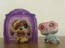 Littlest Pet Shop LPS Frosty Fortress #1076 Seal and #1077 Sheep Dog