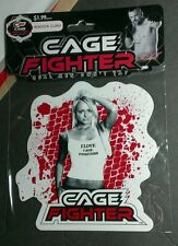 MMA AUTHENTIC I LOVE CAGE FIGHTERS BLOOD SPLATTER WOMAN WINDOW CLING NEW