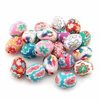 Wholesale Mixed Oval FIMO Polymer Clay Beads For Decoration 20Pcs 2016