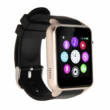 "GT88 1.54"" Bluetooth Smart Watch Phone Heart Rate NFC For iphone Samsung LG Gold"