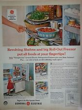 1958 GE General Electric Refrigerator Pyrex Dish Coca Cola Bottle Original Ad