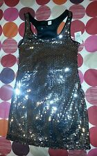 Ladies Brand New H&M Silver sequin Dress size UK 8