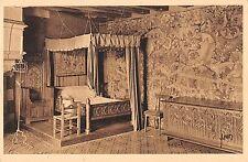 BF9460 chambre a coucher tapisserie chateau de langeais france       France
