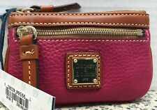 NWT~Dooney & Bourke*Strawberry* Pebble Leather Coin Purse*with*Key Ring#16034F