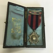 Antique Cased Royal Savoy Club Swimming Races Medal 1883 E Tyler White Metal