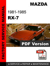 MAZDA RX7 RX-7 1981 - 1985 FB FACTORY OEM SERVICE REPAIR WORKSHOP FSM MANUAL