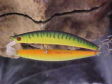 """Daiwa 3 1/2"""" Dr. Minnow Lure DM9F05 in Color MATTE FIRE for Bass/Walleye"""