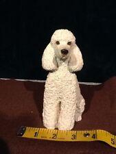 Sandicast Sand Sculpture Poodle White #Ms411