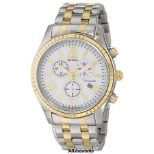NEW CITIZEN ECO-DRIVE WATCH for WOMEN *White w/Purple Accent Two Tone FB1364-53A