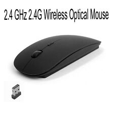 2.4 GHz 2.4G Wireless Optical Mouse Mice USB Receiver For Laptop PC Black new