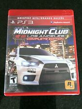PlayStation 3 Midnight Club Los Angeles Complete Edition Greatest Hits Sony 2009