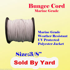 "3/8"" x  Sold By Yards Premium Marine Grade Bungee Shock Stretch Cord UV White"