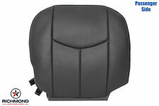 03-06 Chevy Avalanche 1500 2500-Passenger Side Bottom Leather Seat Cover Dk Gray