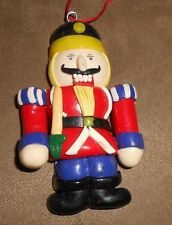 Dough Soldier/Nutcracker Christmas Holiday Ornament  - Very Good