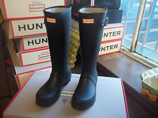 Hunter Wellies Wellingtons en Halifax Negro Original Tall Talla 6 para hombres