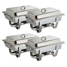 4x Chafer / Chafing Dish, Bain Marie, Buffet, Fuel, 635 x 317.5mm Stackable NEW