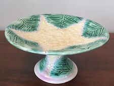 Antique ETRUSCAN Majolica GRIFFIN SMITH & HILL Cauliflower Star Cake Stand