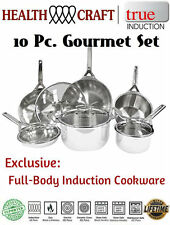 Health Craft True Induction 10-pcSurgical Stainless Steel Induction Cookware Set