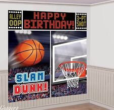 Basketball Giant Birthday Scene Setter Wall Banner Kit~Party Supplies Decoration