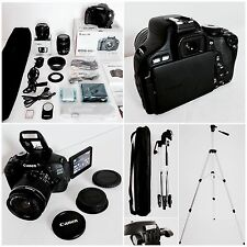 RRP £ 568 Canon EOS 600D EF-S 18-55mm KIT IS II + Canon F/1.8 LENS + ACCESSORI