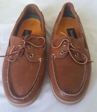 NOS Vtg 90's Men's Timberland Classic 2-Eye Brown Leather Boat Shoes - Size 10 M