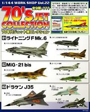 F-TOYS '70s JETS. 1/144 scale painted modern military jets plastic models