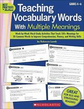 Teaching Vocabulary Words With Multiple Meanings (Grades 4-6): Week-by-Week Word