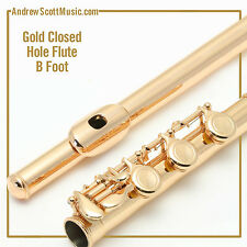 Gold Lacquer Flute with B Footjoint - Masterpiece, Wind Instrument