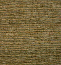 Drapery Upholstery Fabric Textured Chenille Rippling Horizontal Stripes - Sage