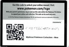 MYTHICAL MEW COLLECTION BOX CODE CARD XY110 + 2 GENERATIONS PACK Codes Pokemon