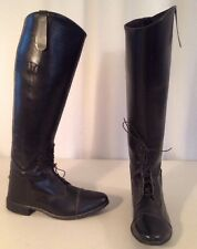 Nice! Womens sz USA 7.5 - 8 Leather Field or Dress Boots Black Equestrian