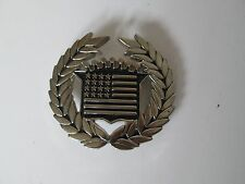 1x Famous Stars and Straps American Flag Cadillac Silver Belt Buckle 8387 Metal