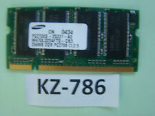 256MB Samsung DDR1 Notebook RAM PC2100S 266MHzSO-DIMM M470L3224FT0-CB0 #KZ-786