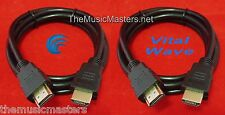 2X HDMI 6' ft Cable M-M 1080P 4K Ultra HDTV BLURAY DVD XBOX PS3 Wire Cord VWLTW