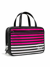 NWT VICTORIA'S SECRET  Striped Hanging Make-Up/Train Case/Travel Bag