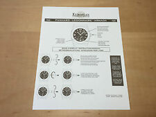 New - EUROPEAN COMPANY WATCH Instruction Manual - M2 PANHARD - For Collectors