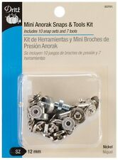 Dritz Mini Anorak Snaps & Tools Kit Nickel 12mm 33701