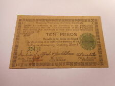 Philippines Emergency Currency Negros Occidental WWII Ten Pesos - Nice - # 33411