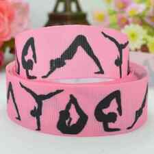 "1m GYMNASTICS PINK GROSGRAIN RIBBON 7/8"" 22mm HAIR BOW CAKE RIBBON"