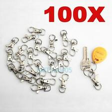 100x Lobster Clasps Swivel Trigger Clips Snap Lanyard Hook Bag KeyRing Key Chain