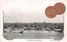 Harbor View St John NB 1903 1 Cent Coin #18 Postcard
