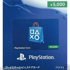 PSN Network Card 5000 YENS PS Vita PLAYSTATION SONY JAPANESE NEW JAPANZON PS 3 4