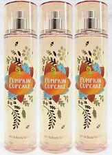 3 Bath & Body Works PUMPKIN CUPCAKE Fragrance Mist Spray AUTUMN HARVEST