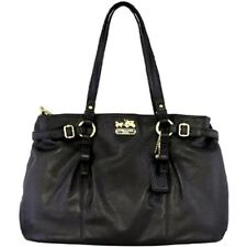 Coach Madison Pleated Leather Carryall Shoulder Handbag Tote 16359