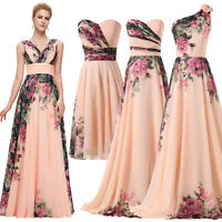 Long Ladies Wedding Cocktail Formal Party Evening Prom 2016 Plus Size Maxi Dress