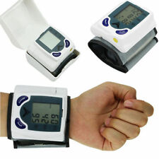 Digital Large LCD Wrist Blood Pressure Monitor Heart Beat Meter Machine Gauge