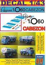 DECAL 1/43 PEGASO Z 206 CABEZON CAMPSA (06)
