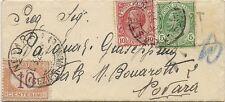 P6022   Pavia, CASTEGGIO, busta per Novara 1930, tassata per c.10