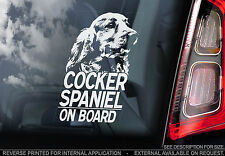 Cocker Spaniel - Car Window Sticker - English Dog on Board Sign