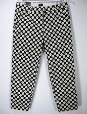 J. CREW STRETCH NWT POLKA DOTS SKIMMER PANTS SIZE 6, BLUE AND WHITE